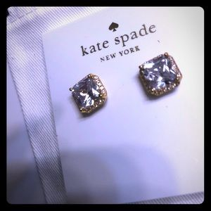 💯 % AUTHENTIC GOLD TONE CRYSTAL SQUARE KATE SPADE